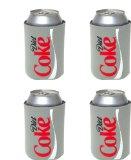 Kolder Diet Coke Can Koosie (4-Pack), Silver