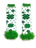 Rush Dance Flowery Shamrock St Patrick's Day Baby/ Toddler Chiffon Leg Warmer