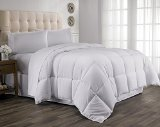 Hanna Kay Year Round Down Alternative Comforter Duvet , Full/Queen Size, white-Clyne Collection
