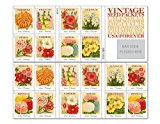 Vintage Seed Packets Sheet of 20 x Forever U.S. Postage Stamps