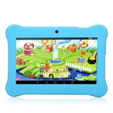 iRULU BabyPad Y1 7 Inch Kids Tablet, Android Tablet Quad Core, GMS Certified by Google, Android 4.4, 1GB RAM, 8GB ROM, 1024*600 Resolution, with Wi-Fi, Games, Dual Cameras - Pink Tablets for Children