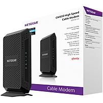 Netgear High Speed Cable Modem - 1 X Network (rj-45) - 960 Mbit/s Broadband - Gigabit Ethernet - Desktop Cm600-100nas