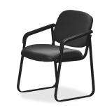Arm Chair with Designer Plastic Shell Back - by Office Star - V4410-74
