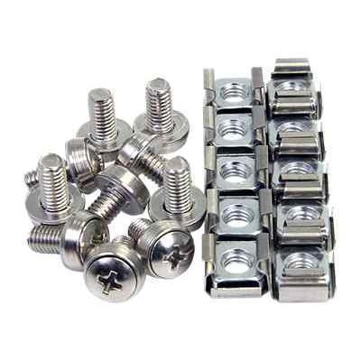 Startech.com Cabscrewm6 50 Pkg M6 Mounting Screws And Cage Nuts For Server Rack Cabinet