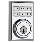 Kwikset SmartCode 910 Contemporary Zigbee Deadbolt with Home Connect, Polished Chrome (99100-020)
