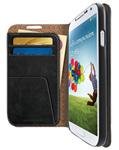 Iluv Galaxys4-wallet-black Premium Leather Wallet