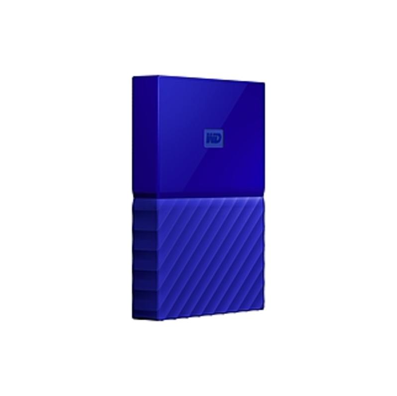 Wd My Passport Wdbyft0040bbl-wesn 4 Tb External Hard Drive - Portable - Usb 3.0 - Blue - 256-bit Encryption Standard