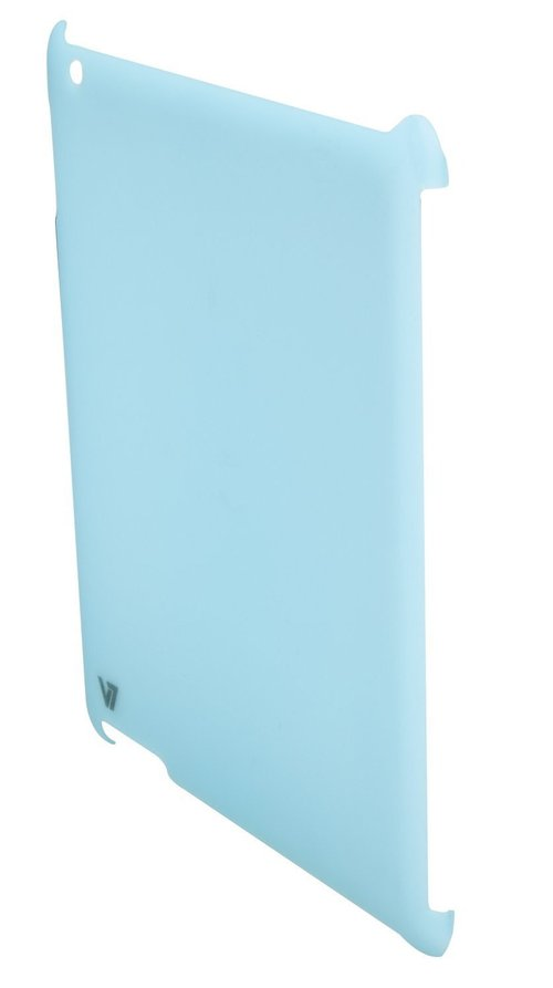 V7 Ta15blu-cf-9n Ultra Slim Back Cover And Protective Film For Ipad2 - Blue
