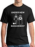 Funny Wedding Gift T-Shirts Under New Management Black XL