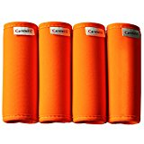 Careteilly Neoprene Luggage Handle Wrap And Tags Fluorescent Orange Luggage Identifiers Travel Luggage grip Wraps
