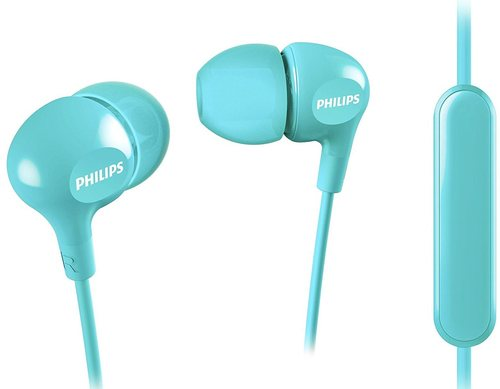 Philips She3555tb/27 Wired In-ear Headphones With Mic - Aqua Blue