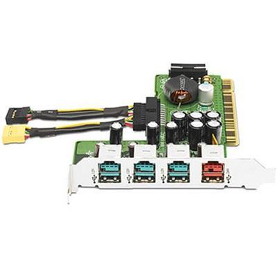 4-Port Powered USB Card - USB adapter - 4 ports