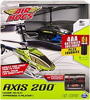 Air Hogs 20072143 Axis 200 Remote Control Helicopter Toy - Black