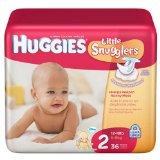 HuggiesLittle Snugglers Size 2 (12-18 lb), 36/pk, 4pk/cs
