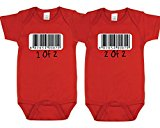 Nursery Decals and More Cute Outfit For Twins, Includes 2 Bodysuits, 0-3 Month barcode