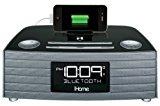 iHome IBT97GC Bluetooth Stereo FM Clock Radio with USB Charging - Gunmetal