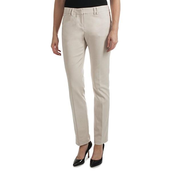 Amanda   Chelsea Cotton Blend Narrow Leg Pants (For Women)