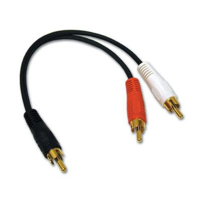 C2g 03161 Value Series 6in Value Series One Rca Mono Male To Two Rca Stereo Male Y-cable - Audio Adapter - Rca (m) To Rca (m) - 6 In - Black