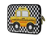Amzer 7.75 Inch Neoprene Sleeve - Yellow Taxi Checks