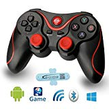 A-szcxtop Android Bluetooth Gamepad wire wireless Rechargeable Game Controller Support for Smart phone,Pad,TV,TV Box with Android Platform 3.2 or Above