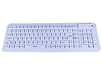 P SEAL GLOW2 Medical Grade Silicone Keyboard   Backlit, Dishwasher Safe and Antimicrobial  White  USB