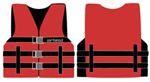 Airhead 1000216ard Universal Open Side Life Vest - Adult Xl Red