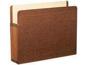Esselte Pendaflex 85545 5 1/4   Expansion File  Straight Cut  Red Fiber/Manila  Letter  5/Box