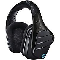 Logitech Artemis Spectrum Wireless 7.1 Surround Sound Gaming Headset - Stereo - Mini-phone, Rca - Wired/wireless - 65.6 Ft - 39 Ohm20 Khz - Over-the-head - Binaural - Circumaural - Noise Canceling 981-000585