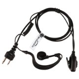 MIDLAND Radio Earpiece (G-Shape Headset with PTT Microphone) THE-SECURITY-STORE