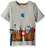 Carhartt Toddler Boys' Performance Logo Tee,Toolbelt Grey Heather,3T