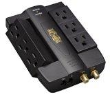 Tripp Lite 6 Swivel Outlet Direct Plug-in Audio/Video Surge Protector Tel/Modem/Coax (HTSWIVEL6)