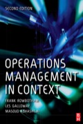 Operations Management in Context provides students with excellent grounding in the theory and practice of operations management and its role within organizations.Structured in a clear and logical manner, it gradually leads newcomers to this subject through each topic area, highlighting key issues, and using practical case study material and examples to contextualize learning