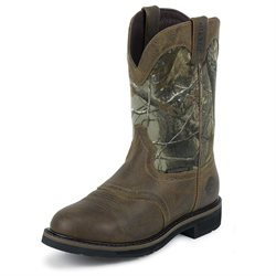Justin Stampede Waterproof Saddle Work Roper