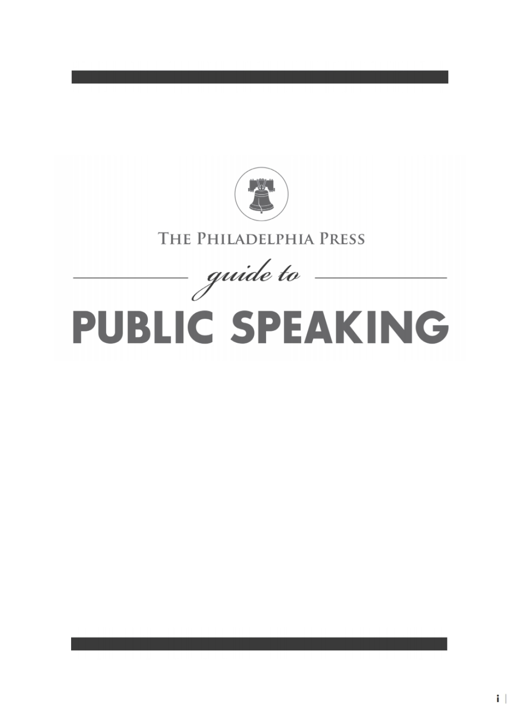 The Philadelphia Press Guide To Public Speaking (ebook)