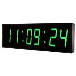 DBTech Huge 36 Inch Oversized Digital Blue LED Clock- Green LED