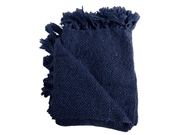 Marion Navy Boucle Throw