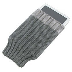iSock Gray Beanie Cap / Sock for Apple iPod Nano, Photo, Video, Microsoft Zune or MP3 Players, Universal fit manufactured by Insten available from Eforcity