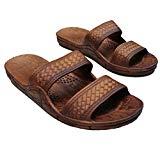 Brown Double Strap Jesus Style Hawaii Sandals. Unisex Sandal For Men Women and Teens (9 = Women 9 / men 7)