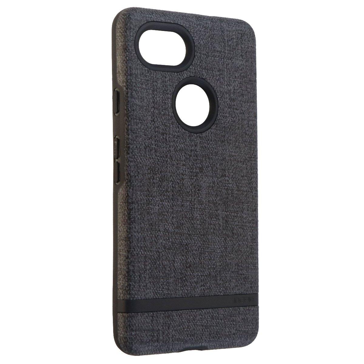 Incipio Esquire Series Hard Fabric Case for Google Pixel 2 XL - Dark Gray/Black