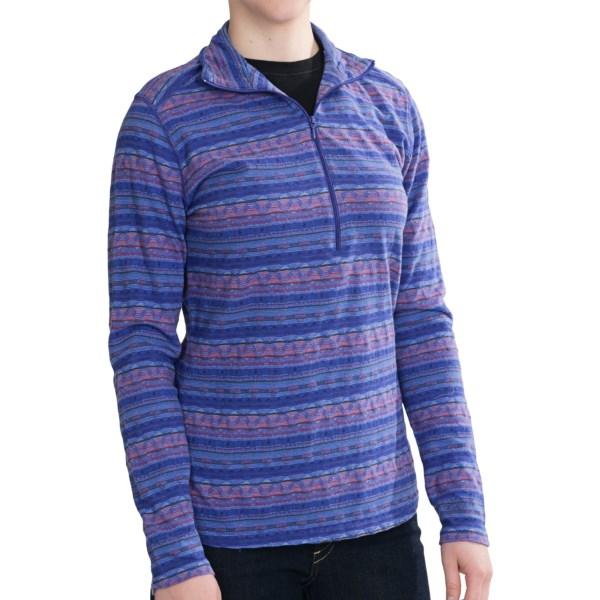 Woolrich Mile Run Cotton Knit Shirt - Zip Neck, Long Sleeve (For Women)