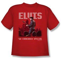 Youth(8-12yrs) ELVIS Short Sleeve RETURN OF THE KING XLarge T-Shirt Tee