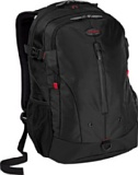Targus Terra Backpack Designed for 16-Inch Laptops - TSB226US (Black/Red Accents)