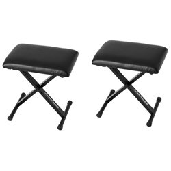 Ultimate Support JS-SB100 Small Keyboard Bench - 3 Height Positions - 2 Pack
