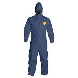 Dupont Large Denim Blue 12 Mil Proshield Sms Chemical Protection Coveralls
