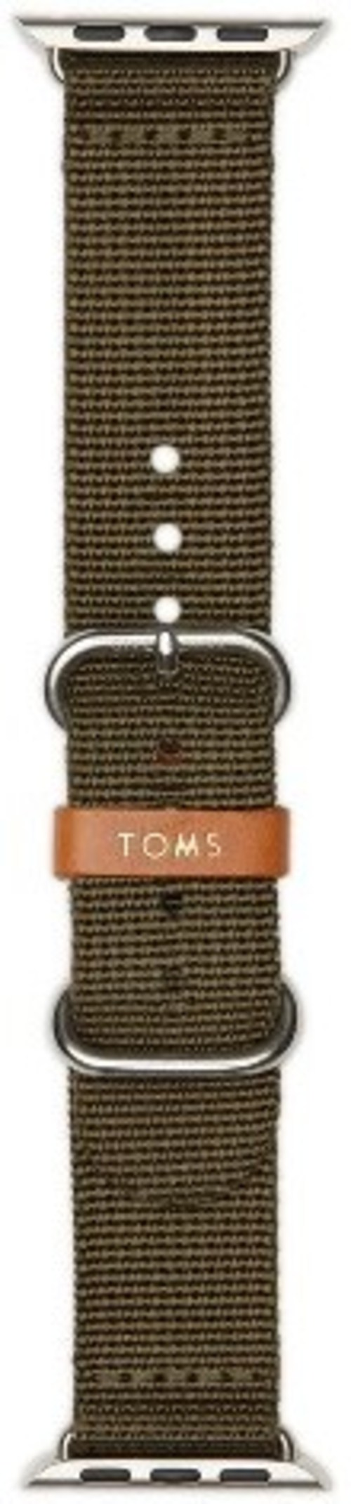 Toms 490570052958 1.6-inch Solid Band For Apple Watch - Olive Green