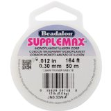 Beadalon Supplemax 0.30mm Nylon Bead Stringing Material, 50m, Clear