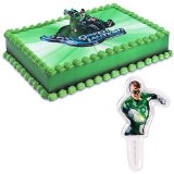 Green Lantern Cake Topper and 24 Justice League Cupcake Toppers