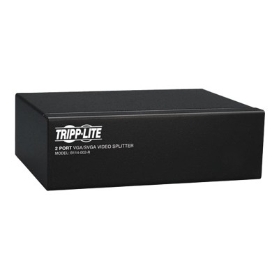Tripplite B114-002-r 2-port Vga/svga Video Splitter With Signal Booster  High Resolution Video  350mhz  (hd15 M/2xf)