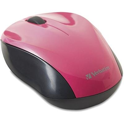 Verbatim 97667 Nano Wireless Notebook Optical Mouse - Mouse - Optical - Wireless - 2.4 Ghz - Usb Wireless Receiver - Pink
