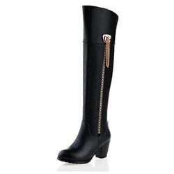 women's riding boots low heel with tassels adorned
